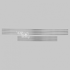 WINDOW SCRAPER MOLDING SET CONVERTIBLE