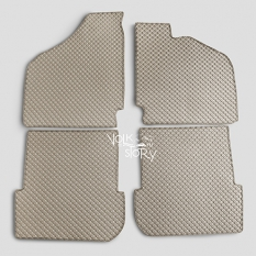 VW FLOOR MAT 4 PIECES SET BEIGE | KARMANN GHIA 1956-1974 | RHD