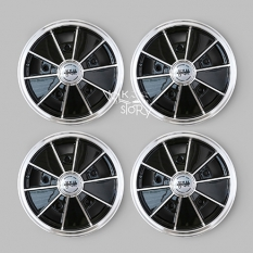 BRM WHEELS BLACK WITH POLISGED LIP