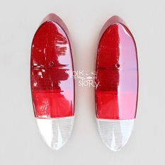 TAIL LIGHT LENS COLORS RED / WHITE FOR TYPE 3 / KARMANN GHIA  71-74