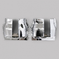 CHROME CYLINDER COVER PLATE | DUAL PORT | LEFT & RIGHT ( PAIR )