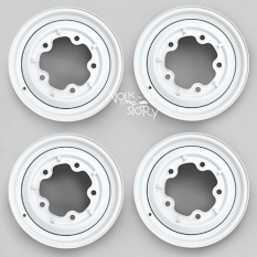 "5 SPOKE WHEEL POWER COATED WITH SLOT 5/205 15x4.5"" WIDE"
