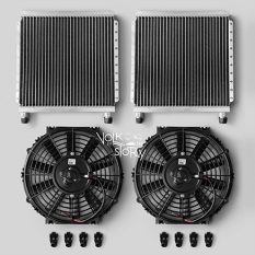 A/C CONDENSER AND FAN SET