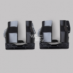 BLACK CYLINDER COVER PLATE | DUAL PORT | LEFT & RIGHT ( PAIR )