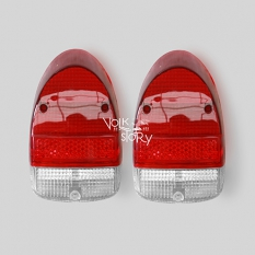 TAIL LIGHT LENS RED WHITE | PAIR