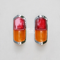 TAIL LIGHT LENS COLOR RED / YELLOW FOR KARMANN GHIA 58 - 59